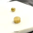 磁鐵耳環 金色圓型鋼耳夾ND780