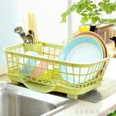 廚房放碗架瀝水架置物架塑料收納架餐具架子碗筷收納盒碗櫃 NMS漾美眉韓衣