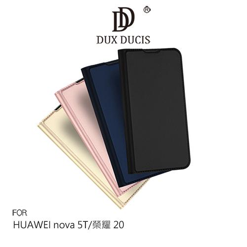 摩比小兔~DUX DUCIS HUAWEI nova 5T/榮耀 20 SKIN Pro 皮套 手機套 側翻皮套