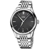 ORIS 豪利時 Artelier 日期機械腕錶-灰/40mm 0173377214053-0782179
