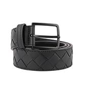 【BOTTEGA VENETA】新款皮編織皮帶 寬3.5cm(黑色) 609182 VCPQ3 8984