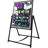 熒光板 LED熒光板60 80廣告牌發光屏 廣告牌電子黑板手寫立式寫字板特價WY 全館免運折上折