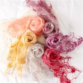 絲巾新款流行時尚女士百搭圍巾潮長巾披肩兩用 ☸mousika