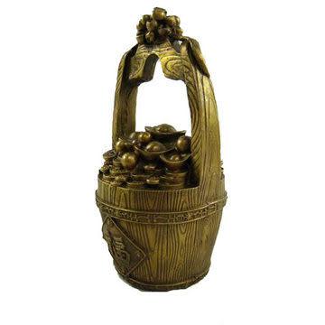 黃銅一桶金 超強招財 聚財 旺事業 風水擺件