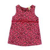 【愛的世界】甜心公主玫瑰條絨背心洋裝/10~12歲-台灣製- ★秋冬洋裝