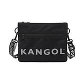 KANGOL 黑色側背包-NO.6125170320