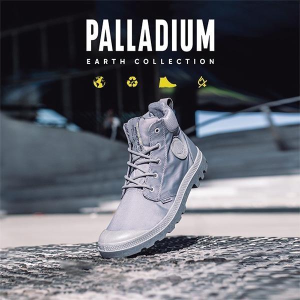 【南紡購物中心】【PALLADIUM】PAMPA CUFF RECYCLE WP+ 地球系列-橘標防水靴 / 煙幕灰 男鞋