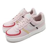Nike 休閒鞋 Wmns Air Force 1 07 LX 粉紅 白 女鞋 特殊鞋面設計 運動鞋 【ACS】 CK6572-600