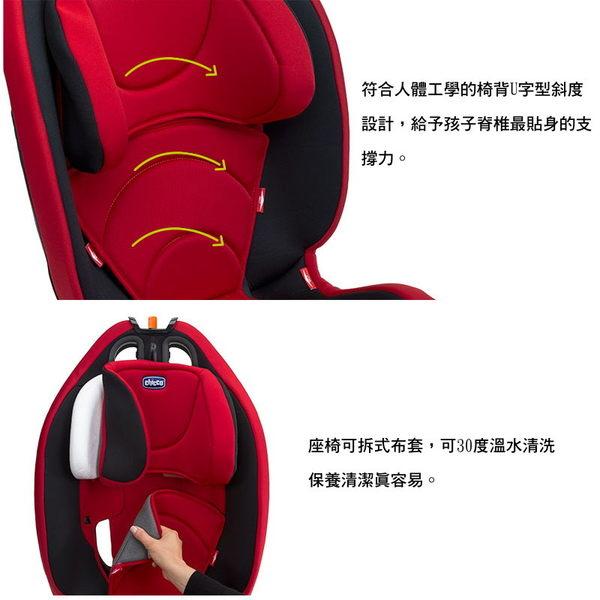 *美馨兒*義大利 Chicco Gro-up123成長型安全汽椅 [9 ~36kg] (玫瑰紅) 6780元 【不可超取】