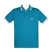 【南紡購物中心】HUGO BOSS 經典標誌配色男款POLO衫-土耳其藍