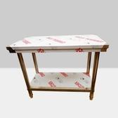不銹鋼工作台酒店廚房切菜桌操作台雙層打荷打包台拆裝包裝工作桌YYJ 易家樂