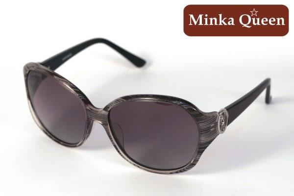 Minka Queen 復古木紋框(抗UV400鏡片)流行時尚百搭偏光太陽眼鏡
