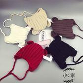 新生嬰兒6-12個月保暖男女童手工針織ins爆款毛線帽寶寶帽子秋冬