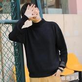 半高領毛衣男2019新款秋冬季厚款寬鬆針織衫韓版潮男士外套打底衫DF586【極致男人】