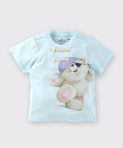 Hallmark Babies 男童純棉上衣《Forever Friends》水手短袖T恤 FD1-R09-02-KB-NB