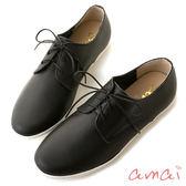 amai MIT台灣製造。牛皮綁帶紳士休閒鞋 黑