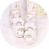 洛麗塔鞋子女學生可愛日系仙女的粗中高跟蝴蝶結Lolita軟妹小皮鞋