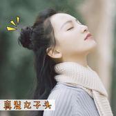 包包頭韓系假髮圈女盤髮捲髮圈真髮丸子頭假髮包盤髮器蓬鬆自然半丸子頭髮圈