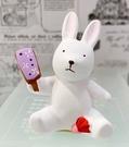 【震撼精品百貨】日本精品百貨~日本動物招財擺飾/陶瓷擺飾-兔#46281