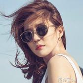 圓形網紅墨鏡女潮時尚復古沙灘偏光防曬紫外線太陽鏡 港仔會社