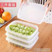 不粘凍餃子盒家用冰箱保鮮收納盒不分層帶蓋3件套裝 概念3C旗艦店