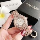 CONTENA手錶女鋼帶簡約大氣超薄女士手錶-6449ZL