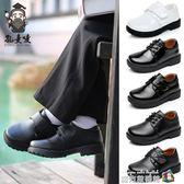 童鞋男童皮鞋學生白黑色新款兒童小皮鞋春秋款黑色單鞋表演鞋 魔方數碼館