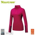 【Mountneer 山林 女遠紅雲彩保暖上衣《深桃紅》】32P18/保暖長袖/保暖中層