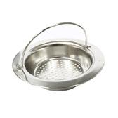 【PUSH 廚房用品】提籃式不鏽鋼流理台水槽濾網一入HD1011 D37