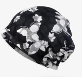 頭巾帽帽子女夏季包頭帽透氣薄款蕾絲頭巾帽光頭化療堆堆帽孕婦帽月子帽 名創家居館