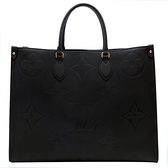 【台中米蘭站】全新品 Louis Vuitton ONTHEGO GM 手提肩背二用托特包(M44925-黑)