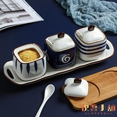 調料罐子日式調料盒廚房油鹽罐陶瓷調味罐辣椒油罐三件套【倪醬小舖】