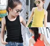 女童背心 夏季中大童女童無袖黑白t恤棉質小背心吊帶衫 兒童上衣潮內搭外穿【夏季新品】