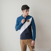 【GIORDANO】男裝皇家刺繡長袖POLO衫-44 雪花鯨魚藍/標誌白