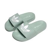 ADIDAS 拖鞋 ADILETTE 草地綠 運動 女(布魯克林) FX5927