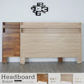 Homelike 金姆附插座床頭片-雙人5尺(2色可選)積層木