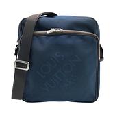 【台中米蘭站】全新品 Louis Vuitton 帆布拉鍊子母斜背包(N41159-深藍)