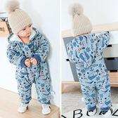 嬰兒衣服0-1歲秋冬季男女寶寶連體衣外出服加厚外套保暖哈衣爬服
