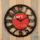 掛鐘復古鐘錶loft工業風美發店創意美式懷舊掛鐘裝飾客廳臥室家用壁掛wy