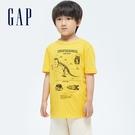 Gap男童 純棉印花短袖T恤 696636-黃色