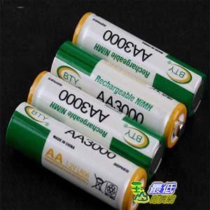 _a@[103玉山最低比價網] 大容量 4入 1.2V 3000mAh 3號 Ni/MH 鎳氫充電電池 綠黃配色 (19299_F117)