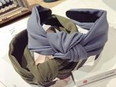 發窟頭箍韓版發飾韓國簡約千鳥格子中間打結發箍寬邊洗臉發帶發卡