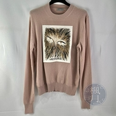 BRAND楓月 Christian Dior CD 迪奧 眼睛 刺繡 藕粉 羊毛衣 #S 喀什米爾 羊毛 棉質