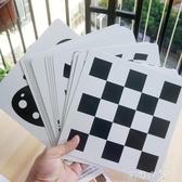 寶寶彩色黑白卡色卡 新生兒色彩早教閃卡圖片卡片 嬰兒顏色追視卡 七夕禮物