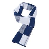 針織圍巾-羊毛時尚格紋提花男披肩2色73wi40【時尚巴黎】