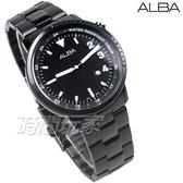 ALBA雅柏錶 簡約潮流 運動風格 日期顯示窗 防水錶 不銹鋼帶 黑色 男錶 AG8J89X1 VJ32-X294SD