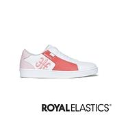 ROYAL ELASTICS Adelaide 白紅粉真皮時尚休閒鞋 (女) 92612-018