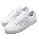 【六折特賣】adidas 休閒鞋 Sambarose W 白 紫 女鞋 厚底 運動鞋 【ACS】 FV0770