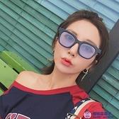 眼鏡太陽鏡男透明方形太陽鏡女網美街拍復古墨鏡【櫻桃菜菜子】
