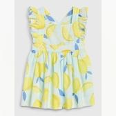 Gap女嬰創意印花方領洋裝544038-淡水藍色